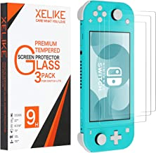 XELIKE(3 Pack)Compatible Nintendo Switch Lite Screen Protector Tempered Glass Film Guard,Transparent HD,High Definition,Anti-Scratch,Anti-Fingerprint Bubble-Free Fit Nintendo Switch Lite 2019 (clear)