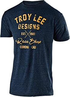 Troy Lee Designs Men's Vintage Race Shop T-Shirt (X-Large, Midnight Blue)
