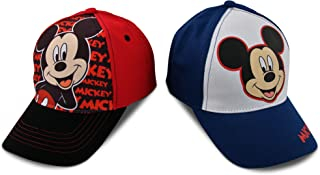 Kids Baseball Cap for Boys Ages 2-7, Mickey Mouse, Pack of 2, Little Kids and Toddler Baseball Hat