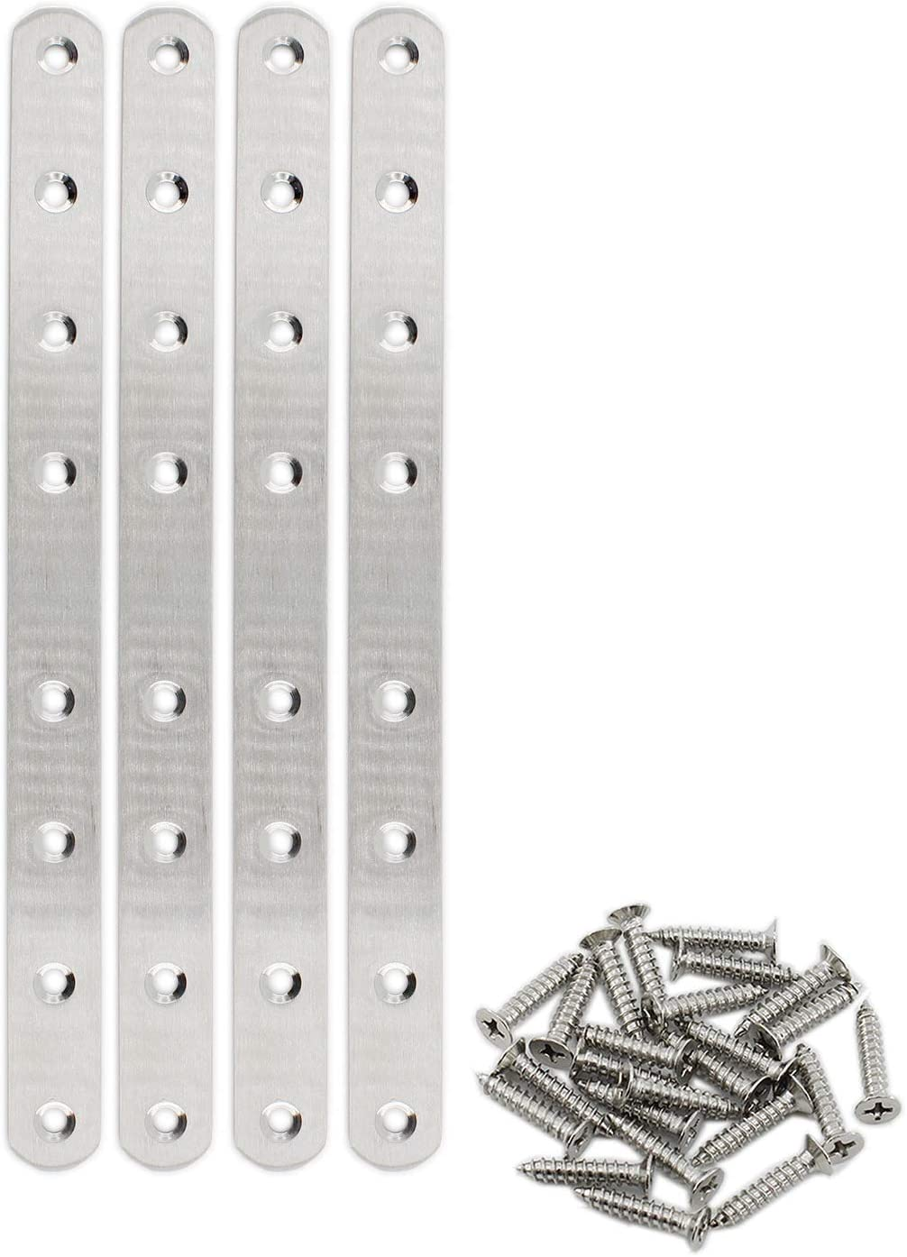 4 Pack Flat Mending Plate Max 54% OFF service for Steel ULIFESTAR Wood Stainless Str