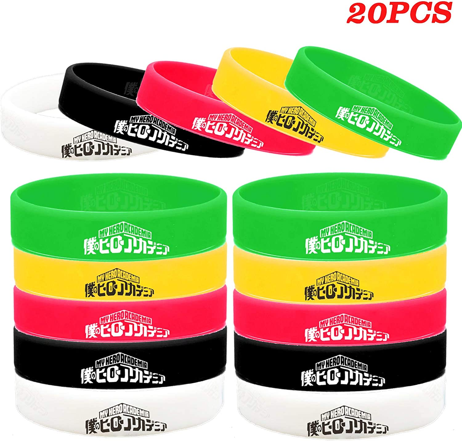My Hero At the price of surprise Academia Bracelet Set Supplies Wristbands Party Large discharge sale MHA For