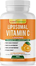 Liposomal Vitamin C 1200mg - 180 Capsules (90 Servings) - Highest Absorption, Fat Soluble Vit C, Powerful Antioxidant & Immune Support - Collagen Booster, Anti Aging Supplement - Lypo Spheric, Non GMO