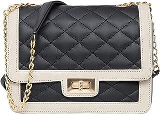 ADISA Women Girls Quilted Sling Bag