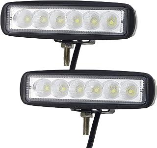 Willpower LED Scheinwerfer Offroad 2pc 6inch 18W LED Arbeitsscheinwerfer Flutlicht 12V 24V IP67 Wasserdicht LED Zusatzscheinwerfer für Traktor Truck Auto SUV UTV ATV Reflektor Rückfahrscheinwerfer