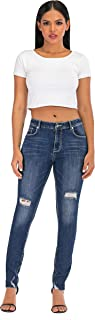 NEW FEELING Womens Plus Size Jeans High Waisted Ripped Stretch Skinny Jeans Denim Pants