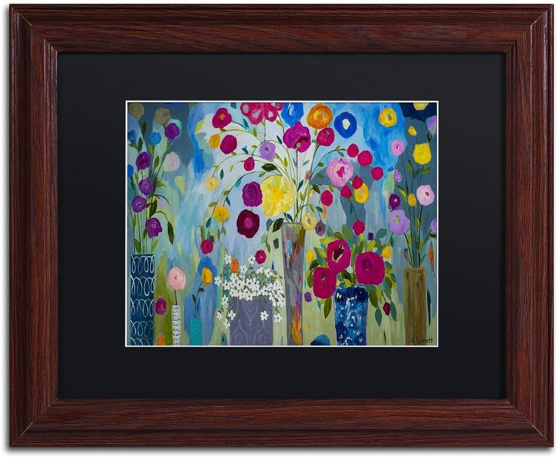Trademark Fine Art Pincha Mayurasana by Carrie Schmitt Wall Art, Black Matte, Wood Frame 11x14