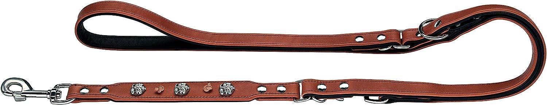 Hunter Tradition Nickel Saddle Leather Lead, 18 200, Brown Black
