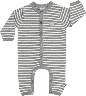 Cocolina Jacky Baby Strampler Strick Strickstrampler Einteiler Unisex Grau