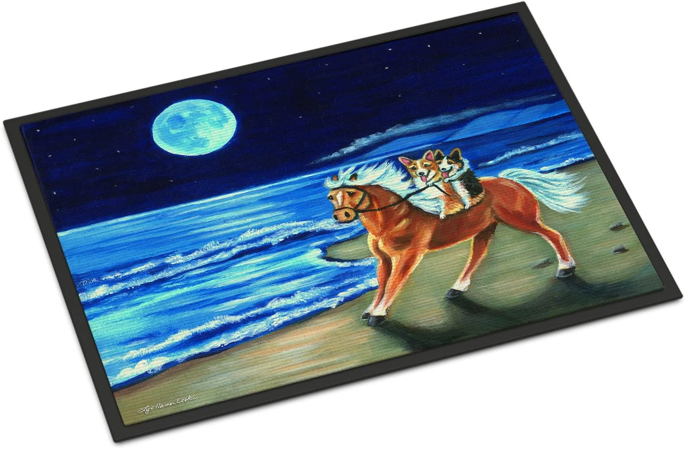 Caroline's Miami Mall Treasures 7318JMAT Max 74% OFF Corgi Beach o Ride Horse on Indoor