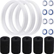 16 Pieces Pool Cleaner Replacement for Polaris Models 180, 280, 360, 380, C60, C-60 Including 5 Pieces Density Sweep Hose Scrubber, 3 Pieces Pool Cleaner Tires and 8 Pieces Wheel Ball Bearings (C60)