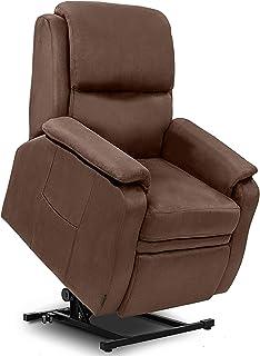 Cecotec - Poltrona relax per massaggi alzapersone, colore: marrone Funzione calore, programmi, 10 intensità, 8 motori di v...