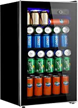 Tavata Beverage Refrigerator and Cooler - 3.2 Cu. Ft. Drink Fridge with Glass Door for Soda, Beer or Wine - Small Beverage Center with 3 Removable Shelves for Office/Man Cave/Basements/Home Bar