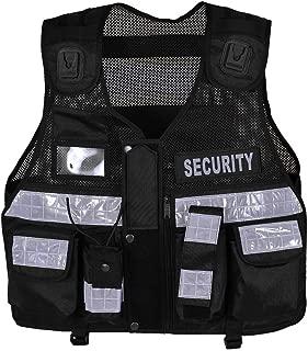 High Visibility Tactical Security Vest, Enforcement, CCTV, Dog Handler, Black Color