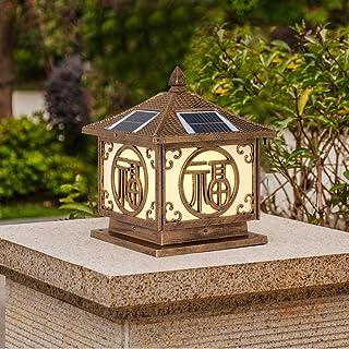 SEESEE.U Solar Column Headlights Outdoor Door Yard Wall Lights Gate Pillar Lights Waterproof Garden Lights Energy Saving D...