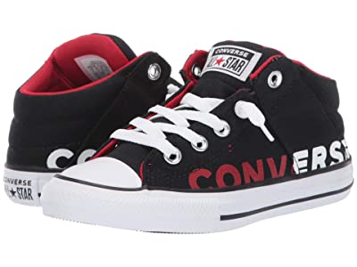 Converse Kids Chuck Taylor All Star Axel Mid (Little Kid/Big Kid) (Black/Enamel Red/White) Kid