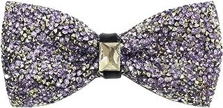 Mens Crystal Shining Luxury Pre-Tied Bow Tie Rhinestone Bowties