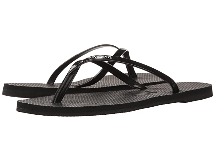 Ladies Havaianas You Metallic Sandals Thong Holiday Toe Post Flip Flop All Sizes