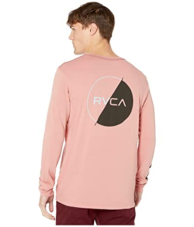 RVCA Lateral Long Sleeve T-Shirt (Dusty Rose) Men