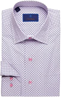 David Donahue Mens Floral Medallian Print Sport Shirt