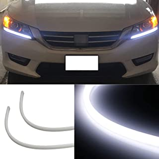 iJDMTOY (2) Even Illuminating Headlight LED Daytime Running Lights Retrofit LED Assembly For 2013-2015 Honda Accord Sedan, Xenon White
