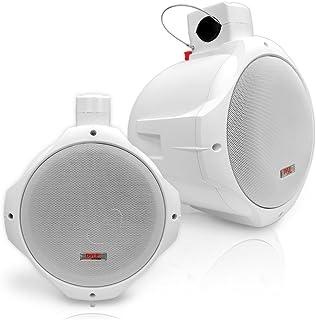 Waterproof Marine Wakeboard Tower Speakers - 8in Dual Subwoofer Speaker Set and 1† Tweeter with 300 Watt Power - 2-Way B...