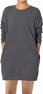 GIKING Women's Long Sleeve Pockets Winter Loose Pullover Sweatshirts T-Shirt Dress