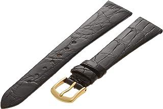 Hadley-Roma Men`s MSM821RA-160 16-mm Black Genuine Caiman Crocodile Leather Watch Strap