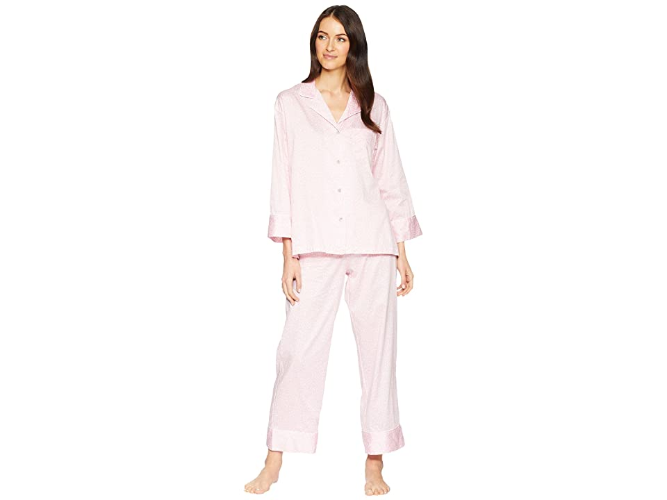 Natori Leopard Long Sleeve Notch PJ (Orchid Pink) Women