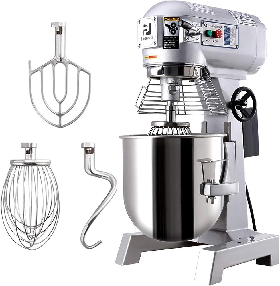 Hiram, impastatrice planetaria commerciale con miscelatore elettrico a 3 velocità, robot da cucina Argento 30l