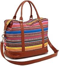 Women Ladies Weekender Bag Overnight Carry-on Tote Duffel in Trolley Handle (Bohemia)