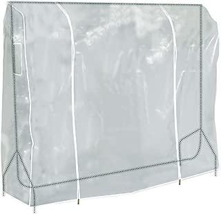 HANGERWORLD Clear 6ft Showerproof Zip Clothes Rail Cover Hanging Garment Storage Display