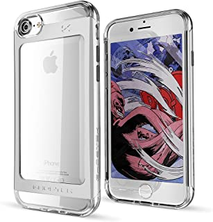 Ghostek iPhone 7 8 Case, Cloak 2 Series for Apple iPhone 8 Slim Protective Armor Case Cover | Tempered Glass Screen Protector | Aluminum Frame | TPU Shell | Durable | Warranty | Ultra Fit (Silver)