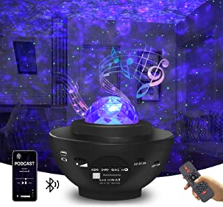 Sponsored Ad - Star Projector Galaxy Projector Night Light for Bedroom Sky with Music Speaker and Remote Control LED Nebul...