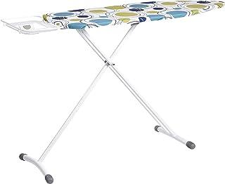 Amazon Basics Planche à repasser avec repose-fer en forme de H, Grand modèle, 122 x 43 cm - Blanc