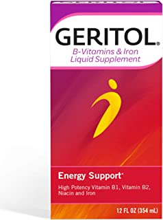 Geritol B-Vitamins and Iron Liquid Supplement for Energy Support, 12 Ounce (20346017011122)