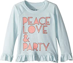 Soft Vintage Jersey Peace Love & Party Tee (Toddler/Little Kids)