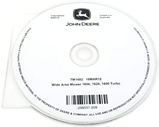 John Deere 1600/1620/1600 Turbo Wide Area Mower Technical Manual CD - TM1682CD