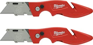 Milwaukee 48-22-1901F Fastback Utility Knife with Wire Stripping Compartment, and Gut Hook (2 Pack of 48-22-1901)
