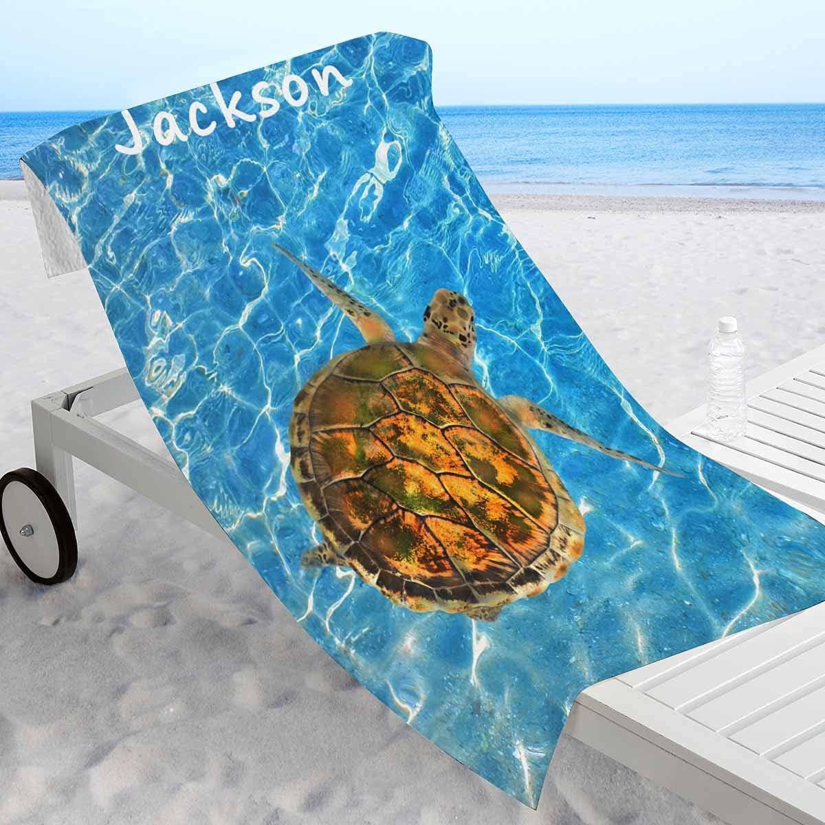 Custom Bath Towels Green Max 82% Selling OFF Sea Personalized Chelonia Turtle Beach