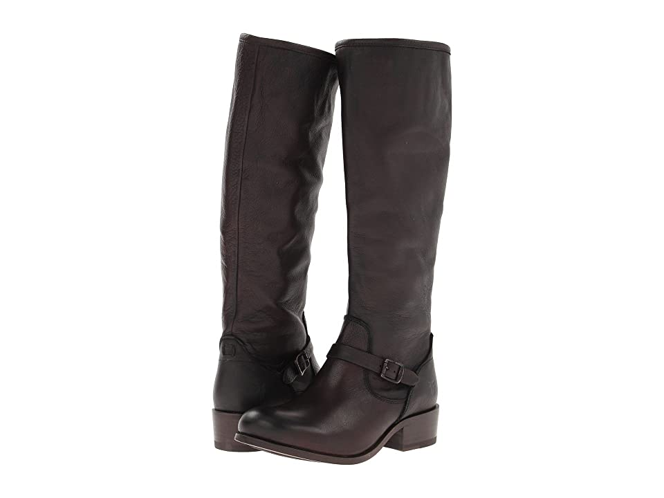 Frye Lynn Strap Tall (Dark Brown Soft Antique) Women