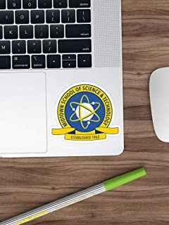 Midtown School of Science and Technology Logo Sticker Window Vinyl Sticker for Cars, Trucks, Windows, Walls, Laptops (Longest Side 3