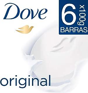 Dove 6pack Dove Jabón Barra Blanca 100g, color, 100 gram, pack of/paquete de
