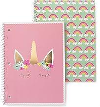 Gartner Studios Enhörningsspiral anteckningsboksset, flerfärgad, 20 x 25 cm, 80 sidor, 2 stycken