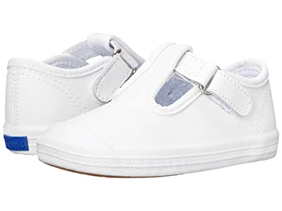 Keds Kids Champion Toe Cap T-Strap 2 (Infant/Toddler) (White Leather) Girls Shoes