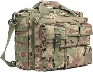 GES Multifunción Mens al Aire Libre táctico Hombro de Nylon portátil Messenger Bag maletín Bolsos Grandes para 15.6