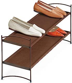 Lynk Vela Stackable Shoe Shelves 2 Tier - Shoe Rack Shelf - Bronze