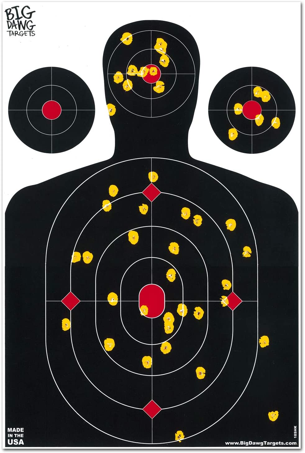 Big Dawg Targets 12 X 18 Targe Silhouette Reactive Inch Splatter List Mail order price