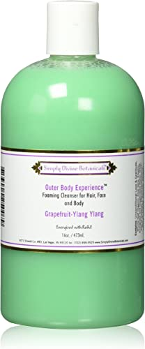 2021 Simply Divine Botanicals Outer Body Experience Natural Foaming sale Cleanser for Body, Face and Hair, 16 online oz (Grapefruit Ylang-Ylang) outlet online sale