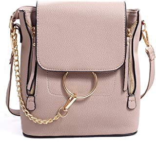 Women Crossbody Chain Backpack Purse Small Pu Designer Leather Shoulder Bag for women