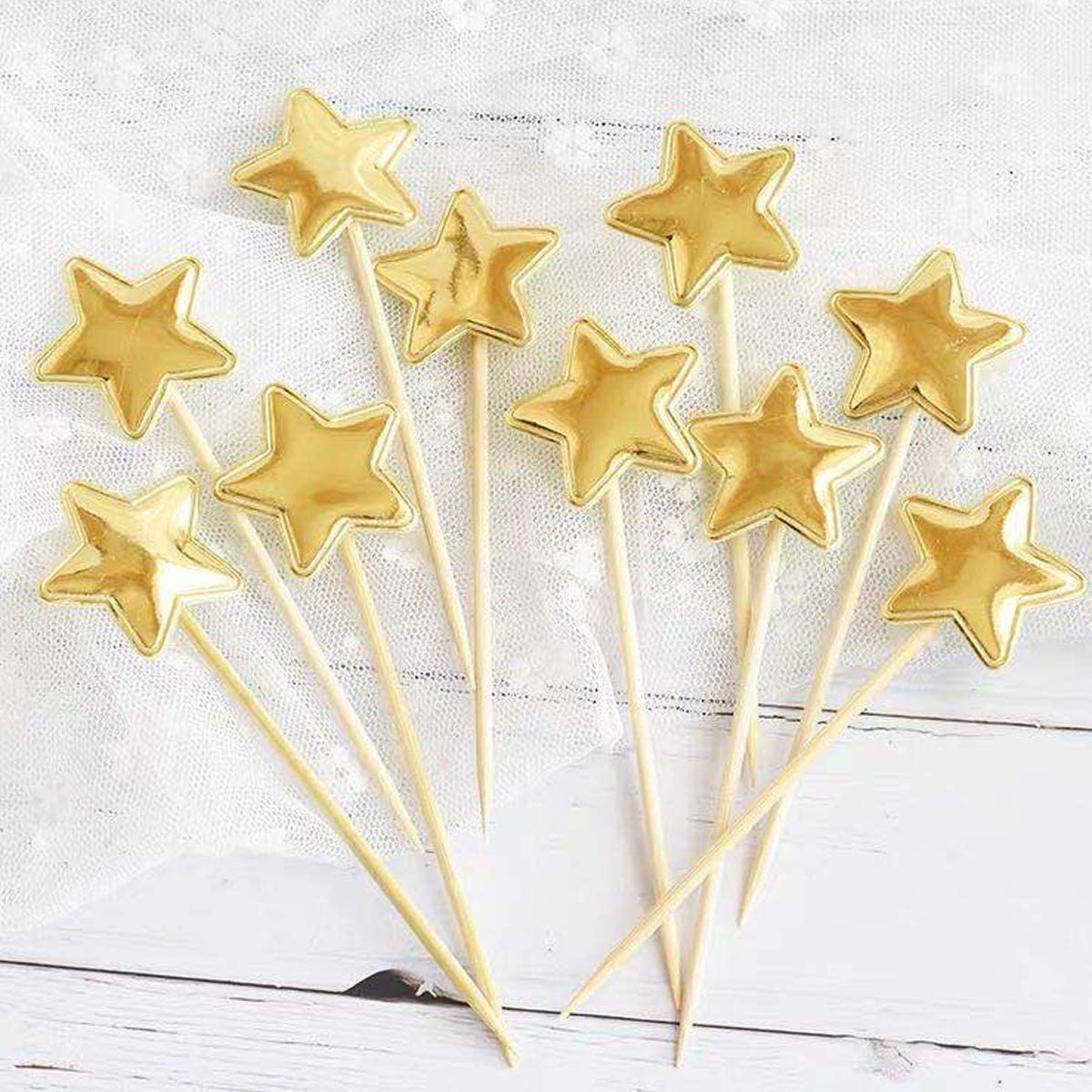 Cake Candles Toppers Confetti Balloon Stars Happy Birthday Cupcake Topper Letters and Fan Cupcake Toppers Sliver Fantasyon 24 Pcs Happy Birthday Cake Toppers Set